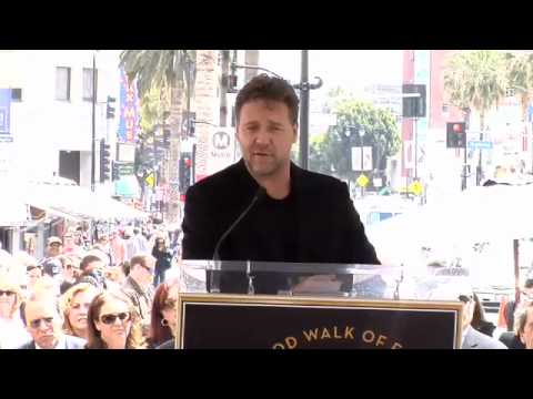 Russell Crowe Walk of Fame Ceremony