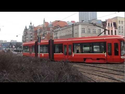 (12.03.12) Tramwaje w Katowicach (tymczasowy odcinek jednotorowy)