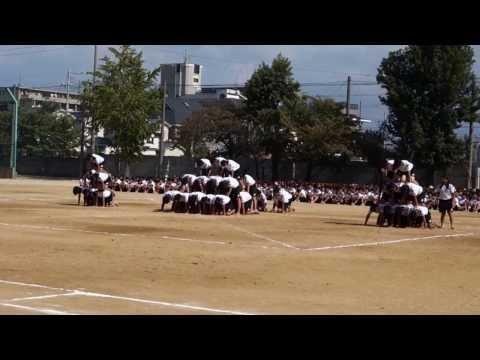 誠風中学校 3年8組 組み立てダンス