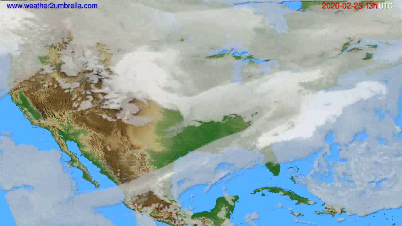 Cloud forecast USA & Canada // modelrun: 12h UTC 2020-02-24