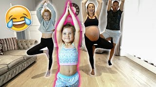 Video 6 YEAR OLD TEACHES FAMiLY GYMNASTiCS CLASS! 🤣 **pregnant mom!!** MP3, 3GP, MP4, WEBM, AVI, FLV September 2018
