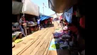 Samut Songkhram Thailand  City pictures : Maeklong Railway Market (Talad Rom Hoop) in Samut Songkhram, Thailand