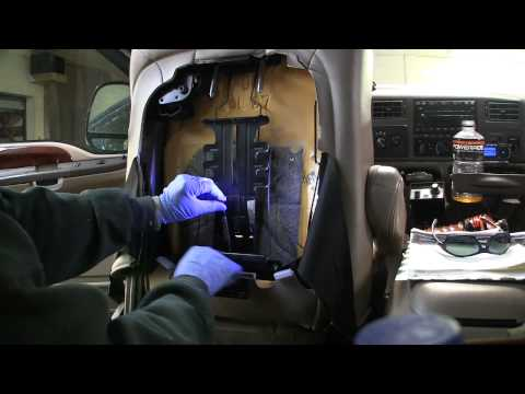 How to repair broken lumbar support on Ford Superduty Pickup