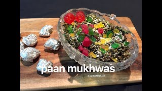 written recipe: http://www.aapdukitchen.com/paan-mukhwasWebsite – http://www.aapdukitchen.comFacebook – https://www.facebook.com/aapdukitchenTwitter – https://twitter.com/aapdukitchenPinterest – https://www.pinterest.com/aapdukitchenGoogle Plus – https://plus.google.com/112725605940703008905/postsLinkedin - https://in.linkedin.com/in/aapdukitchenInstagram - https://www.instagram.com/aapdukitchenTumblr - http://aapdukitchen.tumblr.comYoutube - https://www.youtube.com/channel/UCwpTmv0AKkS5GgK7I4v8lRwpaan mukhwas  homemade paan mukhwas  how to make paan mukhwas with step by step photo and video recipe. a very popular and favourite mouth freshener among all the age group in india. the betel leaves are used as the main ingredient in this mukhwas.paan mukhwas  homemade paan mukhwas  how to make paan mukhwas with step by step photo and video recipe. basically, it is a betel leaves based indian mouth freshener made with the adding fennel seeds, tutti frutti, desiccated coconut, gulkand, dhana dal and few other ingredients.