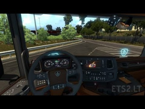 Interior Scania New Generation Black/Brown 1.30.x