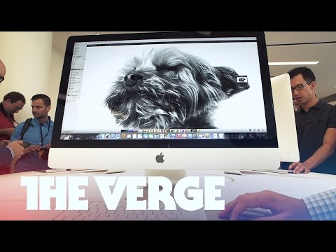 Retina - The Verge has your early look at the new iMac Retina announced Thursday at Apple's iPad and Mac event. Subscribe: http://www.youtube.com/subscription_center?add_user=theverge Check out our...