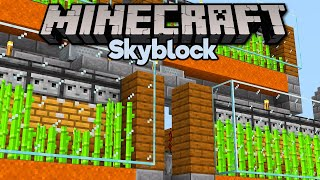 An Old-School Sugar Cane Farm! • Minecraft 1.15 Skyblock (Tutorial Let's Play) [Part 21]