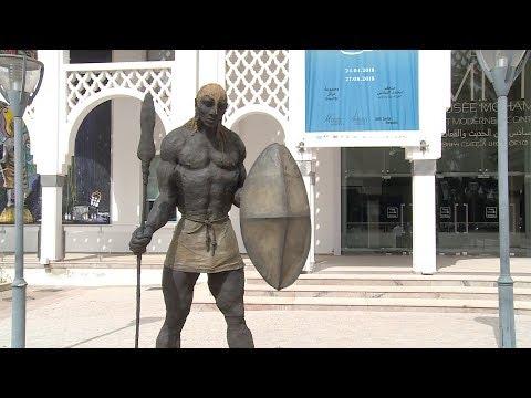 Le Guerrier Masai d'Ousmane Sow au Musée Mohammed VI d'art moderne et contemporain