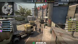 ESEA Premier Season 25 Europe || Vitalis vs Space Soliders bo3 map1 Overpass