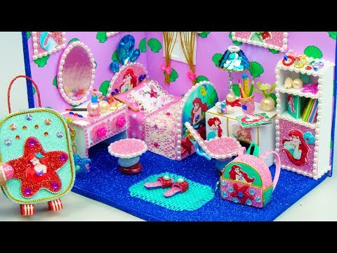 Diy Miniature Dollhouse Room ~ Ariel Room Decor, Backpack