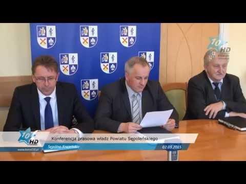 Konferencja prasowa władz Powiatu Sępoleńskiego, 02.03.2015 r.
