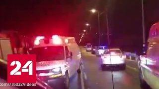 В Израиле рейсовый автобус упал с высоты 70 метров, погибли 2 человека