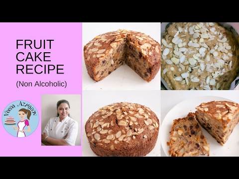 Fruit Cake Recipe - How to make a Rich Fruit Cake with Juice (non alcoholic)