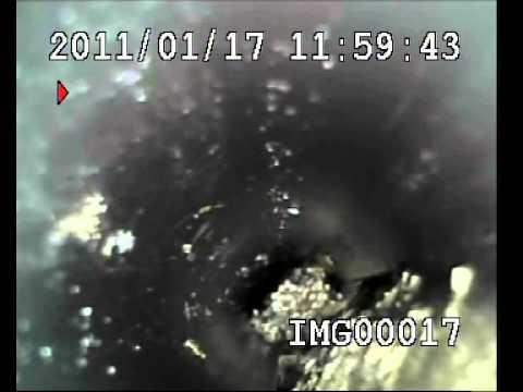 Análisis de interior de tubería con cámara de T.V.