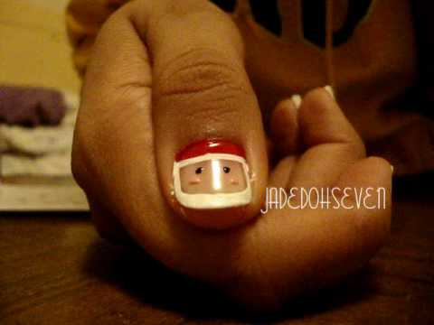 Entry for Rastalove's first nail art contest: Santa Claus