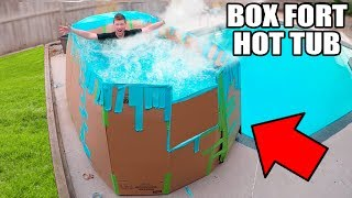 Box fort hot tub challenge! In this video we build the biggest box fort hot tub and survive in it with fun pool toys. This funny box fort challenge vlog was hard! We had to build a home made box fort and survive 24 hours in the worlds first Box Fort Hot Tub. luckily we had toys, nerf guns & more to survive!3:00 AM FLOATING BOX FORT CHALLENGEhttps://youtu.be/2ga_M382Z_s24 HOUR BOX FORT IN THE WOODS!https://youtu.be/9K3KkIFCvO8BOX FORT SUBMARINE CHALLENGEhttps://youtu.be/FEeh1oA-pF8WORLDS BIGGEST BOX FORT NERF WAR! 1v1 NERF BATTLE!https://youtu.be/pxfEL5qpuKwBOX FORT ZOO CHALLENGE!https://youtu.be/ArSG0Wnj828BOX FORT Vs VOLCANO CHALLENGE!https://youtu.be/mOyGEkgYNS8BOX FORT BOAT VS TSUNAMI CHALLENGE!https://youtu.be/yVUCcLQpFzYFLYING BOX FORT CHALLENGE! 📦 https://youtu.be/uylorgdebp4Get Awesome Papa Jake Merchandise! https://shop.bbtv.com/collections/team-epiphanySubscribe To My Gaming Channel - Papa Jake Games! https://www.youtube.com/watch?v=a01luoUVJ5cSubscribe To My Second Channel - Papa Jake Toyshttps://www.youtube.com/channel/UCmeNL9Nc2H1Mezu3gcb1hlAFOLLOW ME!!! LET'S BE FRIENDS:● Twitter - https://goo.gl/s1laJW● Facebook - https://goo.gl/sCnm8B● Instagram - https://goo.gl/x6H5Er● Snapchat - PapaJakeTE● Logan The Editor Instagram - https://goo.gl/842JeDCheck Out The Awesome Glowing 1000 degree KNIFE Videos:.com/watch?v=KiWNeqG_fp4MAIL ME STUFF :)119-660 Eglinton AVE.EAST SUITE 201 TORONTO, ON. M4G 2K2CanadaWARNING: This video is only for entertainment purposes. Do not attempt to recreate any of the acts in this video, as they may be dangerous if not done correctly, and could result in serious injury. If you rely on the information portrayed in this video, you assume the responsibility for the results. Have fun, but always think ahead, and remember that every project you try is at YOUR OWN RISK.