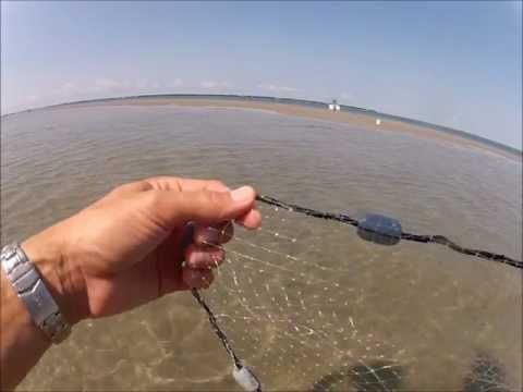 How To Throw Cast Net, No Teeth, Stay Dry,Thrower's View,Easy Way