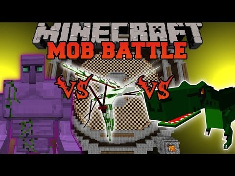 STARCONIUM GOLEM VS T-REX VS MANTIS - Minecraft Mob Battles - OreSpawn & Crazy Ores Mods