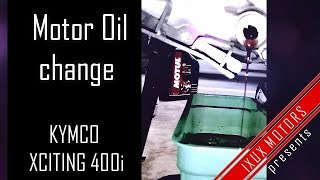 6. Kymco Xciting 400i - How to change motor oil