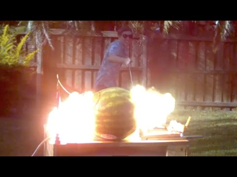 Blowing Up a Watermelon with Electricity