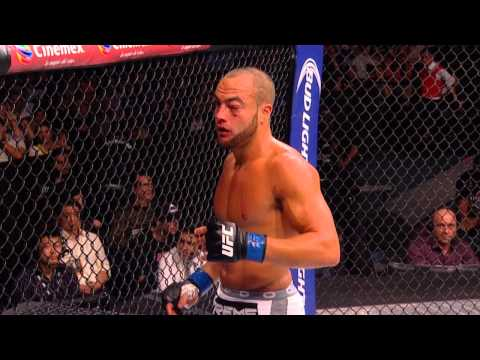 Eddie Alvarez shows why you shouldn't blow your nose when it's broken.