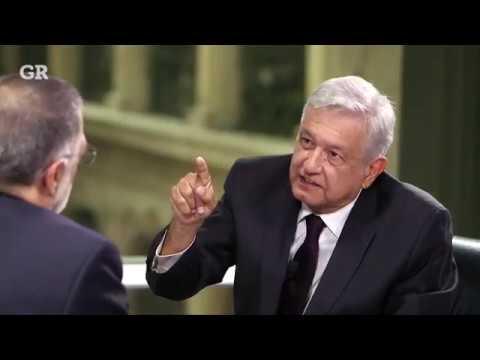 AMLO en entrevista con René Delgado. Reforma