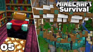 Let's Play Minecraft Survival : Enchanting Room AIR SHIP! Episode 5