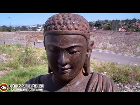 SOLD Stone Stunning Garden Buddha 32
