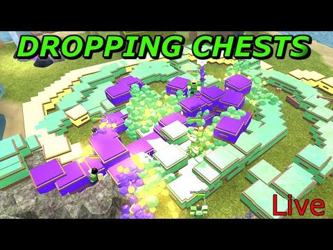 DROPPING THOUSANDS OF CHESTS AND GIVING AWAY COINS! COME JOIN - ROBLOX BOOGA BOOGA