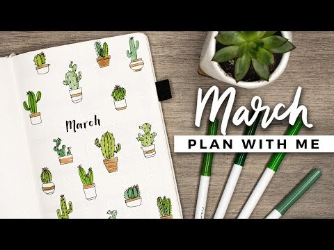 PLAN WITH ME | March 2018 Bullet Journal Setup (видео)