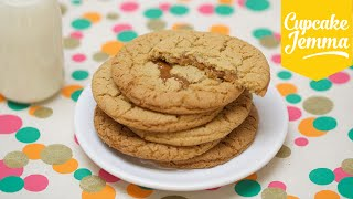 Chewy Salted Caramel Cookie Recipe | Cupcake Jemma by Cupcake Jemma