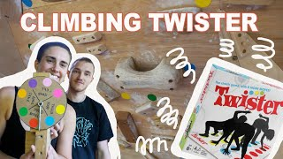 We play Twister on our climbing wall by Bouldering DabRats