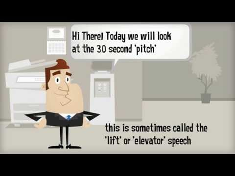 How to create a powerful 30 second pitch or elevator speech (animation only)