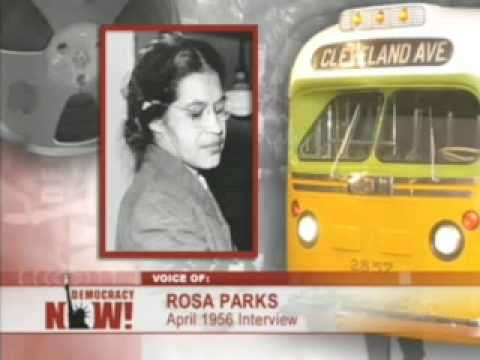 rosa parks - A 1956 interview with Rosa Parks, four months after she famously refused to move to the back of the bus.