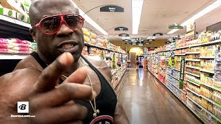 """Later, lobster. Bye, bye filet mignon. Save your dough and grow with  huge this Kali Muscle-approved meal.Strongest Deals on Supplements ► http://bbcom.me/2uhyqFH Follow Kali Muscle on Social Media Twitch ► http://twitch.com/kalimuscleYouTube ► http://full.sc/1rgLfsMWebsite ► http://kalimuscle.comFacebook ► http://facbook.com/realkalimuscleInstagram ► http://instagram.com/kalimuscle Twitter ► http://twitter.com/kalimuscleSnapchat ► http://snapchat.com/kalimusclesnapIf you think Kali Muscle is going to give you complicated instructions on how to eat to grow, well, you don't know Kali. After all, this is the man who created the legendary DIY pre-workout """"Hyphy Mud"""" while in lockup, using nothing more than cola and instant coffee. He also believes in the muscle-building potential of simple foods like ramen noodles so strongly, he has been known to bathe in them.So take it from Kali: """"Rice, oatmeal, chicken, fish—that's all you need to get jacked."""" In the video """"Kali Muscle Cooks,"""" which he created for the Bodybuilding.com YouTube channel, Kali shows us how to make nothing more than a pack of chicken tenders and a bag of jasmine rice last for a few protein-rich meals.For less than $10—or roughly one fat-and-sodium filled fast-food meal—you're set. Want to lose weight rather than gain? Just swap out the rice for veggies. No, you don't need to be jacked up on Hyphy Mud to enjoy making this recipe; just full of enthusiasm. Kali has plenty to share.============================================= Chicken & Rice  Ingredients - Chicken 1-1/2 lbs.- Jasmine rice 2 cups- Cilantro to taste- Honey to taste- PAM to coat pan Directions 1. Spray a pan with PAM. Cut chicken into pieces.2. Place chicken in the pan. Add honey. Take a swig off the bear.3. Add 2 cups of rice to a rice cooker, and add 2 cups of water.4. Flip chicken with a spatula, or a fork. Whichever. Just make sure you're wearing your sunglasses indoors—it's the key to succulent chicken.5. Once the center is cooked through"""