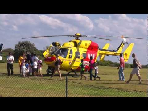 Helicopter - Emergency Call Out during Open Day - Take off & Landing VH-SLA Westpac Life Saver Helicopter Sydney Base Cape Banks Road Botany Bay National Park La Perouse ...
