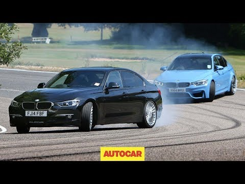 D3 - Subscribe to the channel now: http://smarturl.it/autocar Steve Sutcliffe has the keys to two very fast versions of the BMW 3-series: the 435bhp petrol BMW M3 and the 345bhp diesel Alpina D3....