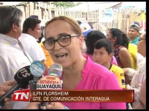 Interagua entregó un conducto cajón en el Guasmo Sur