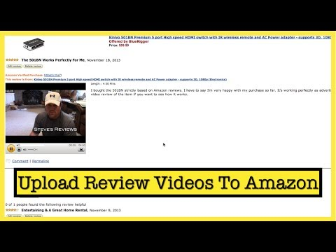 How To Upload Review Videos To Amazon