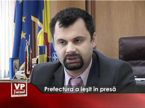 Prefectura a ieşit în presă