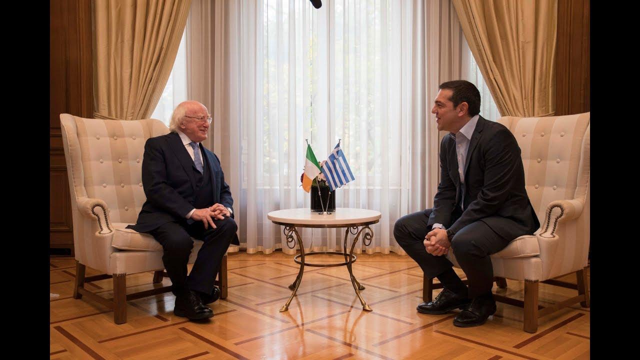 Συνάντηση με τον Πρόεδρο της Δημoκρατίας της Ιρλανδίας Michael Higgins