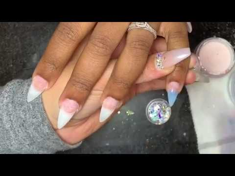Gel nails - Acrylic Nails Fullset Tutorial  Christmas Glow In The Dark Nails