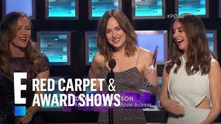 Dakota Johnson Has A Wardrobe Malfunction At People's Choice Awards 2016 | E! People's Choice Awards