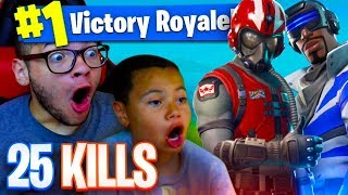 NEW SKINS ARE OVERPOWERED 25 KILLS FORTNITE BATTLE ROYALE 9 YEAR OLD KID STARTER PACK AND FREE