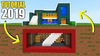 Minecraft Tutorial: How To Make The Ultimate Modern House 2019 (Hidden Underground Base)