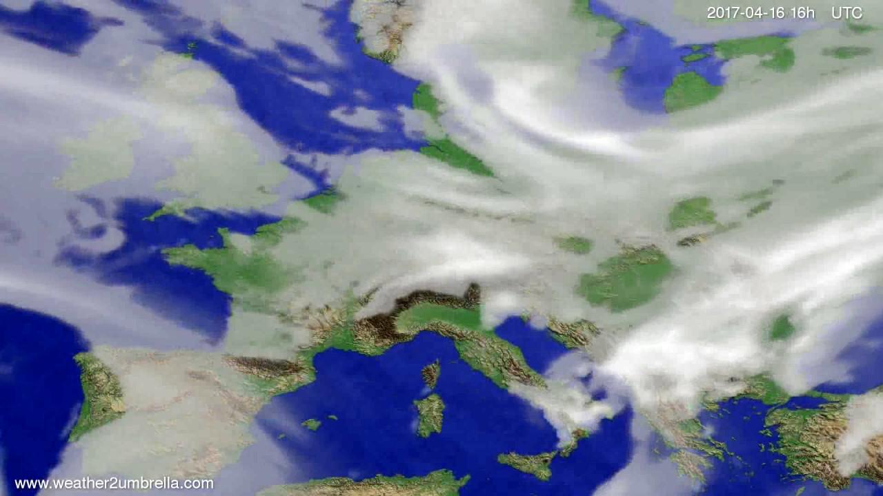 Cloud forecast Europe 2017-04-13