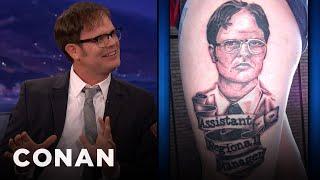 Rainn Wilson Appreciates Your Dwight Tattoos - CONAN on TBS