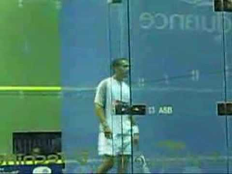 Bermuda Squash World Open Final Shabana diving