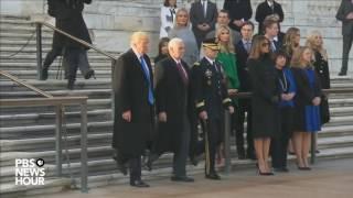 Watch President-elect Trump lay wreath at Arlington National Cemetery