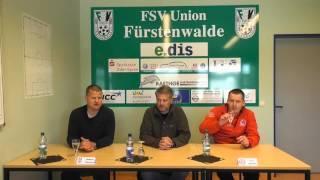 video 'Oberligateam: Pressekonferenz nach dem Spiel gegen FSV Union Fürstenwalde' anschauen